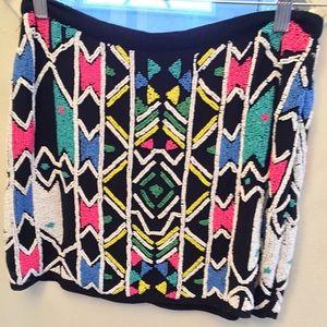 Top shop beaded min skirt